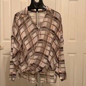 Vince Camuto wrap shirt
